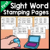 First Grade Literacy Centers with Stamps {41 words}