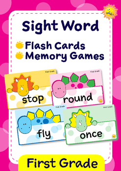 First Grade Sight Words -- Dino Theme Flash Cards