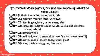 First Grade Sight Words Quarter 2