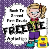 First Grade Sight Words Activities - Back to School Themed