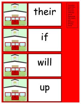First Grade Sight Words Activities/December