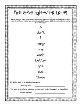 First Grade Sight-Words Book