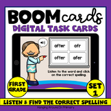 Sight Word Spelling Boom Cards | First Grade Word List | Set 1