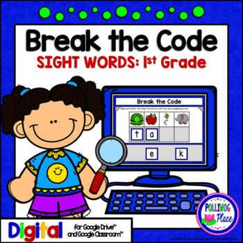 First Grade Sight Words Break the Code Paperless Digital Resource for Google