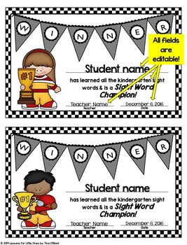 First Grade Sight Words Bundle Editable Printable Pages & Digital Boom Cards
