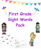 First Grade Sight Words Cards and Tracking