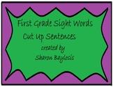 First Grade Sight Words Cut Up Sentences