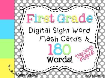 First Grade Sight Words - Digital Flash Cards [Treasures Aligned]