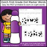 First Grade Sight Words Dot Marker Words
