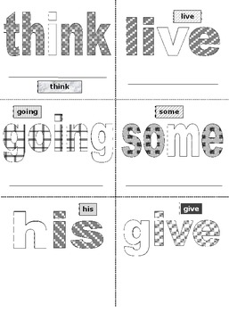 First Grade Sight Words FREE PREVIEW Activity Cards