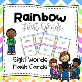 First Grade Sight Words Flash Cards Rainbow Chevron