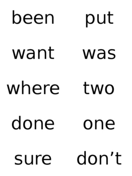 First Grade Sight Words Flashcards