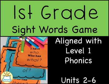 First Grade Sight Words Game -Fundations aligned- (Units 2-6)