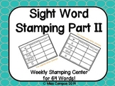 First Grade Sight Word Stamping