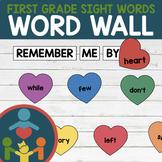 First Grade Sight Words - Heart Word Wall