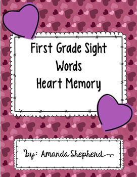 First Grade Sight Words Valentine's Day Memory