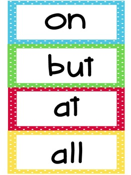 First Grade Sight Words- Large
