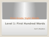 First Grade Sight Words: Level 1