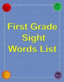 First Grade Sight Words List