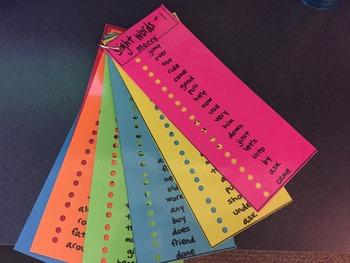First Grade Sight Words - List Five