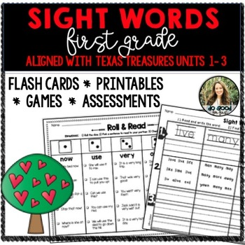 First Grade Texas Treasures Sight Words Pack! {Unit 1-3}