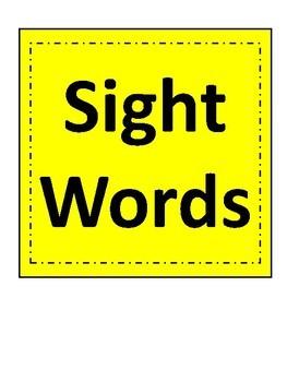 First Grade Sight Words Packet