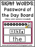First Grade Sight Words: Password of the Day