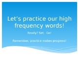 First Grade Sight Words Power Point (1st semester words.)