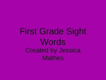 First Grade Sight Words PowerPoint
