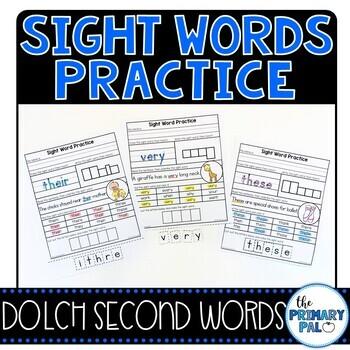 Second Grade Sight Words Practice