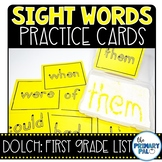 First Grade Sight Words Cards