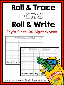 First Grade Sight Words: Roll and Trace