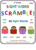 First Grade Sight Words SCRAMBLE (15 Worksheets)