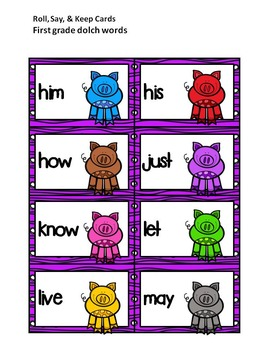Sight Word Practice Literacy Station Games: First Grade