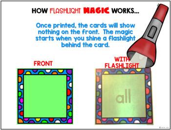 First Grade Sight Words  The Magic Flashlight