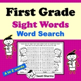 First Grade Sight Words Word Search, Distance Learning