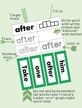 First Grade Sight Words: Word Work Practice [82 pages!]