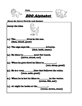 First Grade Sight Words Worksheet Fill in the blank