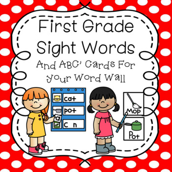 First Grade Sight Words and ABC Cards for Your Word Wall