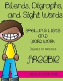 First Grade Sight Words and Phonics Spelling Practice {Set 2}
