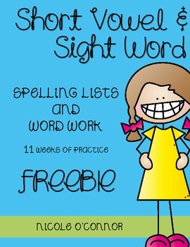 First Grade Sight Words and Phonics Spelling Practice {Set 1}