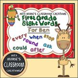 Sight Words ~ 1st Grade