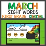 First Grade Sight Words for Google Classroom™ for Distance