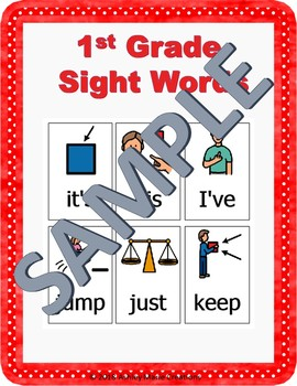 First Grade Sight Words with Visuals