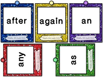"""First Grade Sight Words/Dolch Words """"Oh, Snap!"""" Game"""