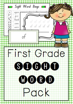 """First Grade"" Sight Work Pack"
