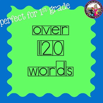 First Grade Sight and High Frequency in Box Font Words for Your Word Wall