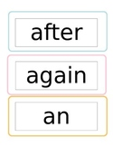 First Grade Sight words for word wall