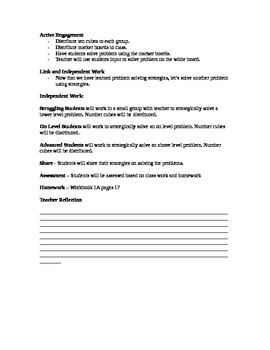 First Grade Singapore Math Lesson Plans Chapters 2 - 7