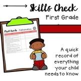 First Grade Skills Check Chart